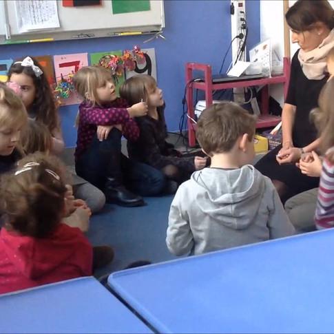 Lekcja polskiego jako obcego prowadzona przez dr Joannę Dobkowską