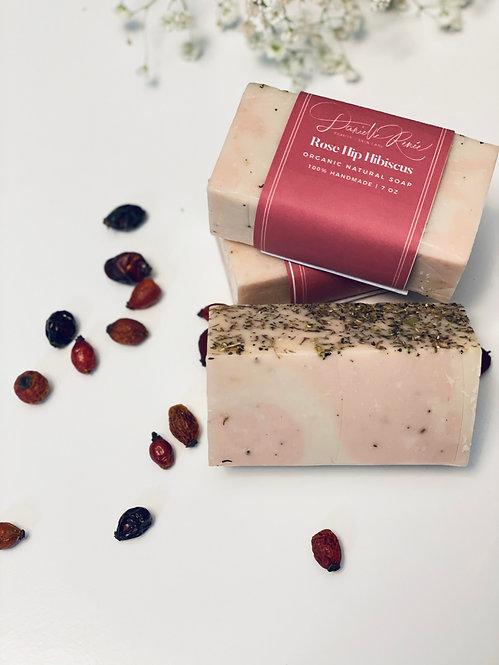 Rose Hip Hibiscus Organic Soap