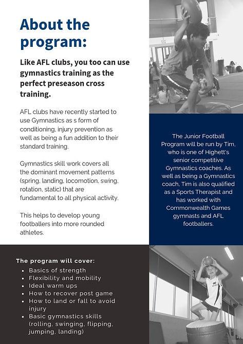 Longer Version Junior Football Program (
