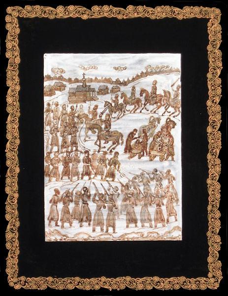 Гризайль, лаковая миниатюра