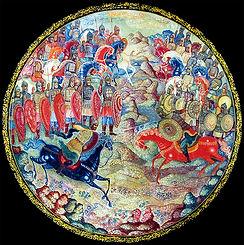 Куликовская битва, лаковая миниатюра