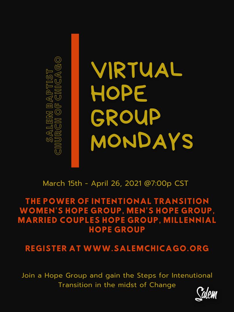 Virtual Hope Group Mondays
