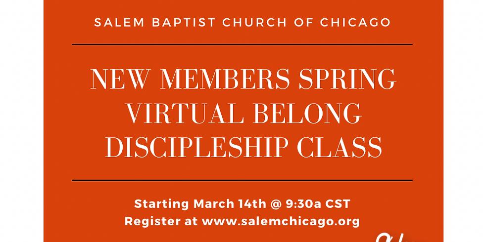 New Members Spring Virtual Belong Discipleship Class