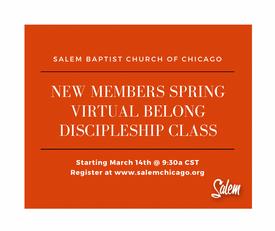 Spring New Members Class