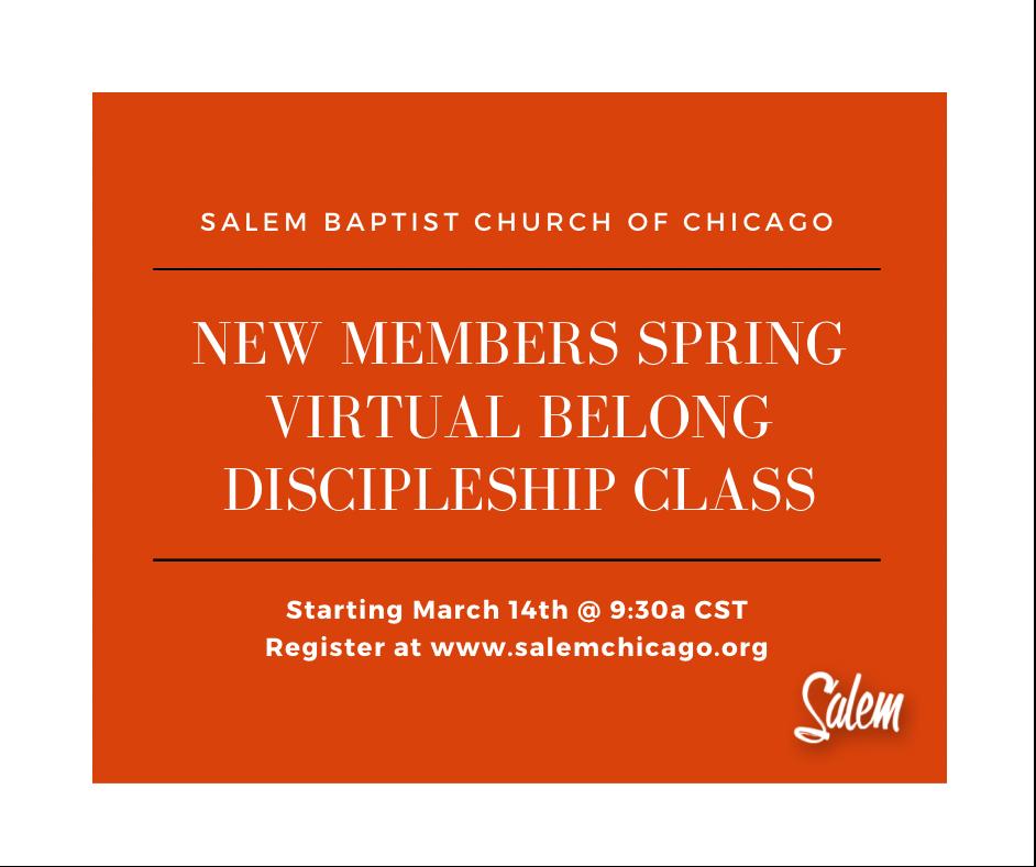 New Members Spring Virtual Class