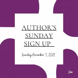 Author's Registration Sign Up
