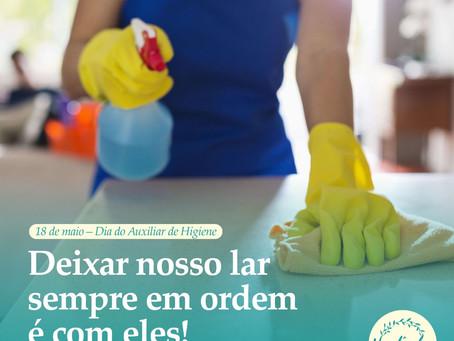 18 de maio – Dia do Auxiliar de Higiene