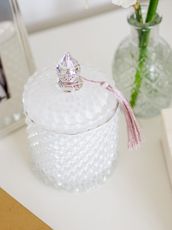 Darling Diva White Pressed Candle