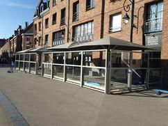 Terrasse installée aujourd'hui à Lille.j