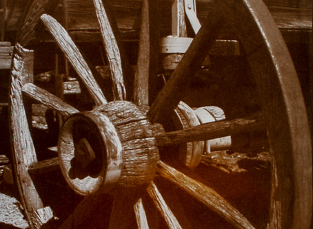 """""""Old Wagon Wheel"""" ~ Palladium toned Kallitype ~ Final Print"""