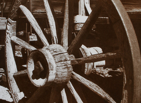"""""""Old Wagon Wheel"""" ~ Palladium toned Kallitype"""