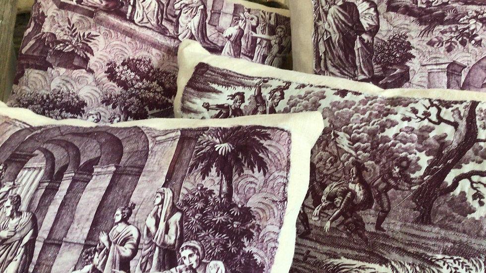 Toile de Jouy cushions