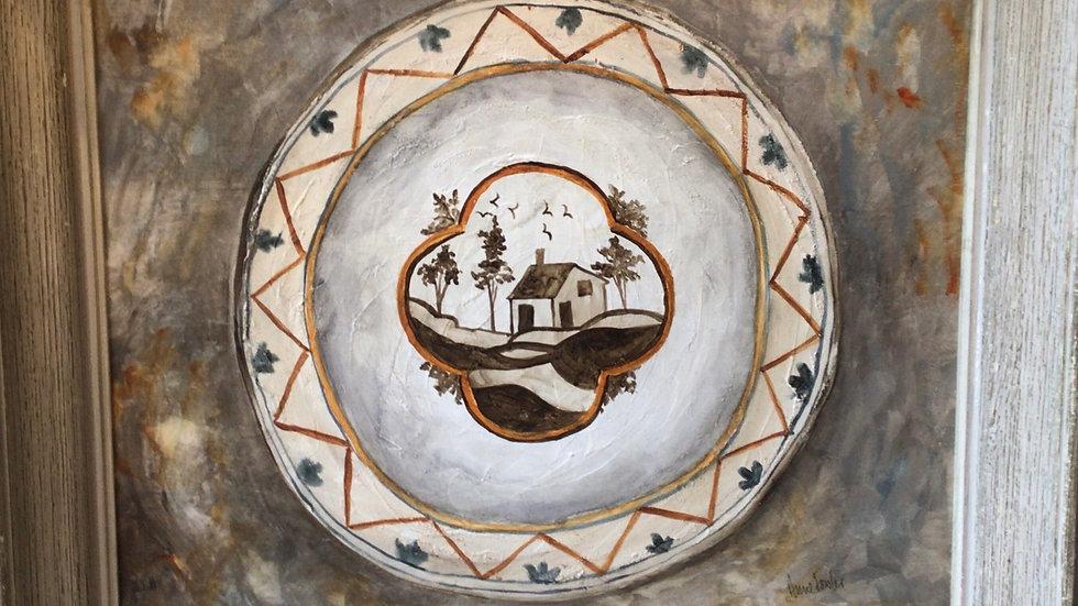 Faience Plate