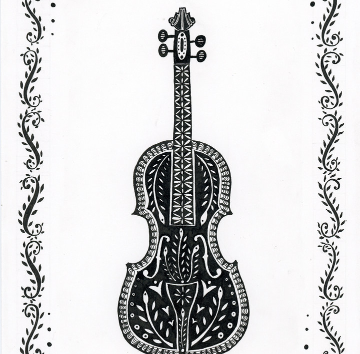 Fiddle for CROMA Festival poster