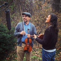 """Howard & Tricia recording """"Old Paint."""""""