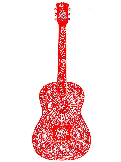 Limited Edition Guitar Screen Print