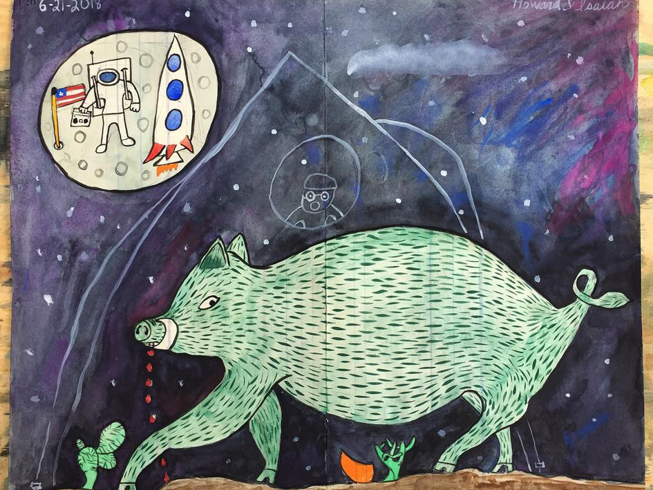 Green Hog & Astronaut
