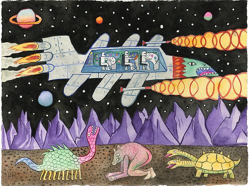 Cutaway of Spaceship