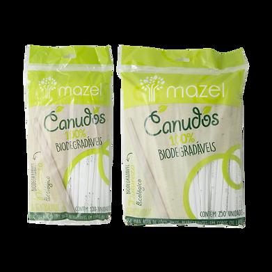 canudos biodegradáveis mazel