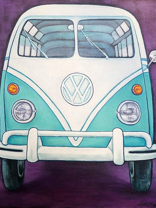 Blue Bird - VW Bus - 20x24