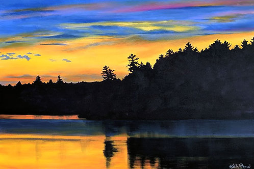 The View From The Cabin 24 x 36