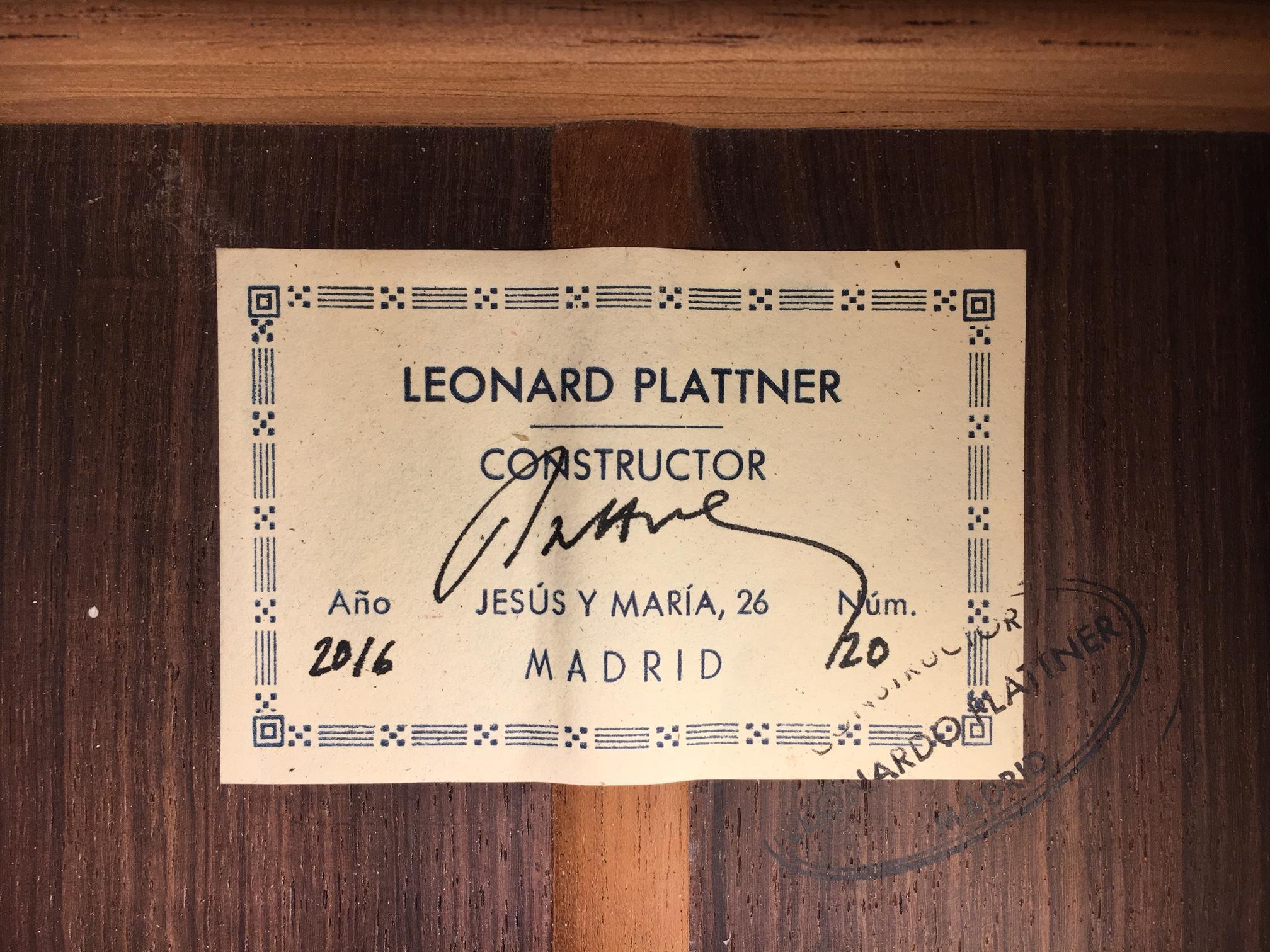 Léonard Plattner 2016