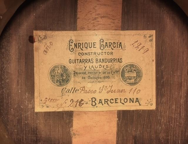 Enrique Garcia 1919