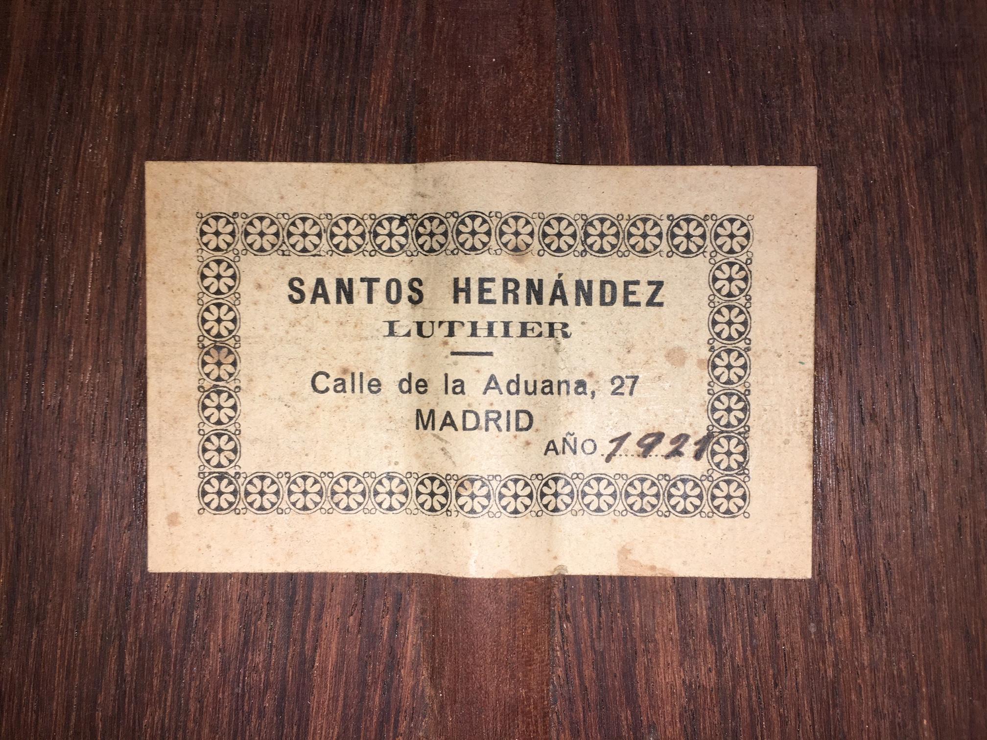 Santos Hernandez 1921