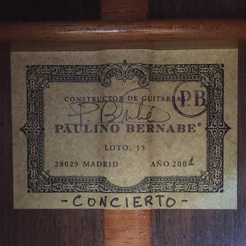 Paulino Bernabe Concierto 2001