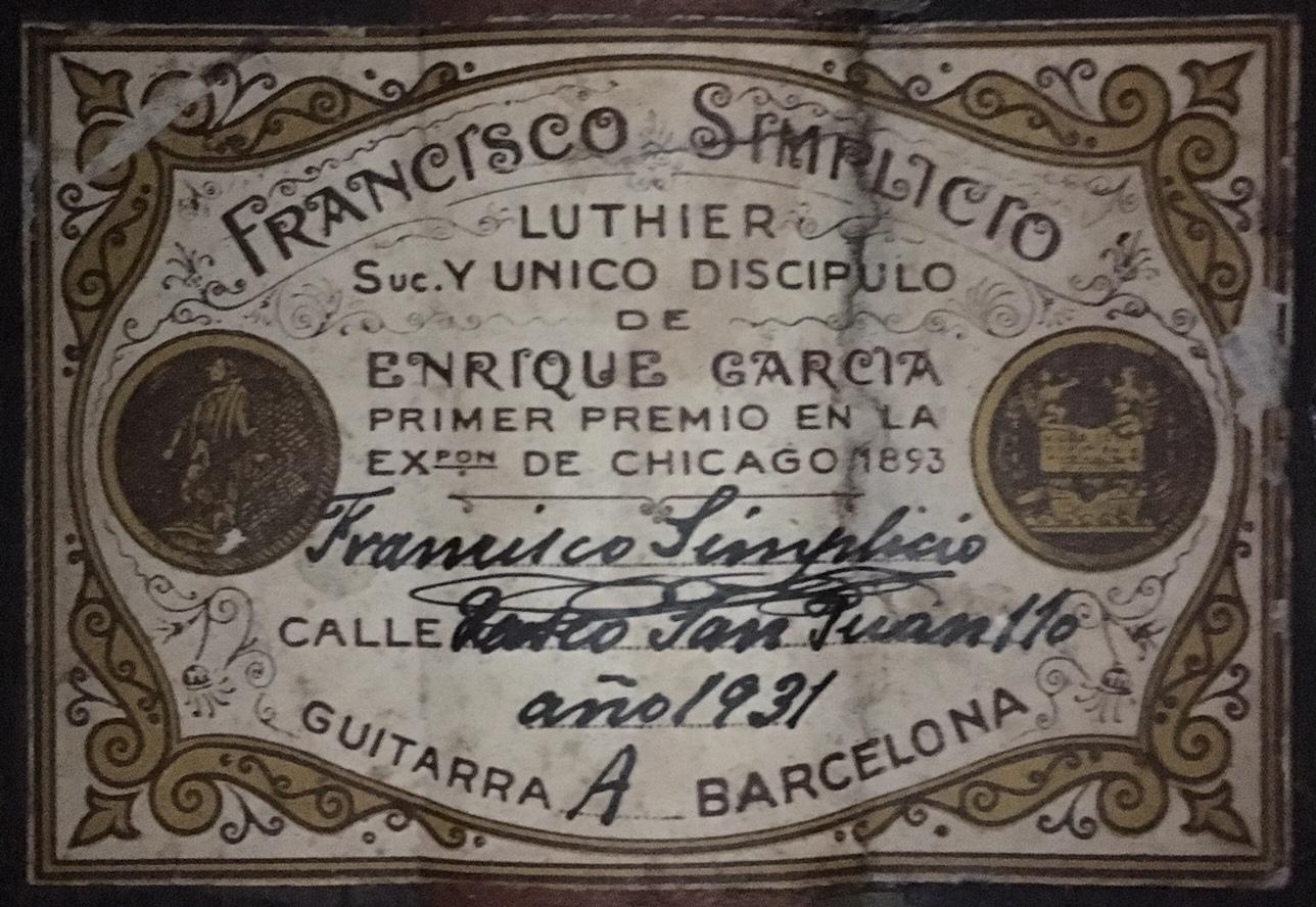 Francisco Simplicio 1931