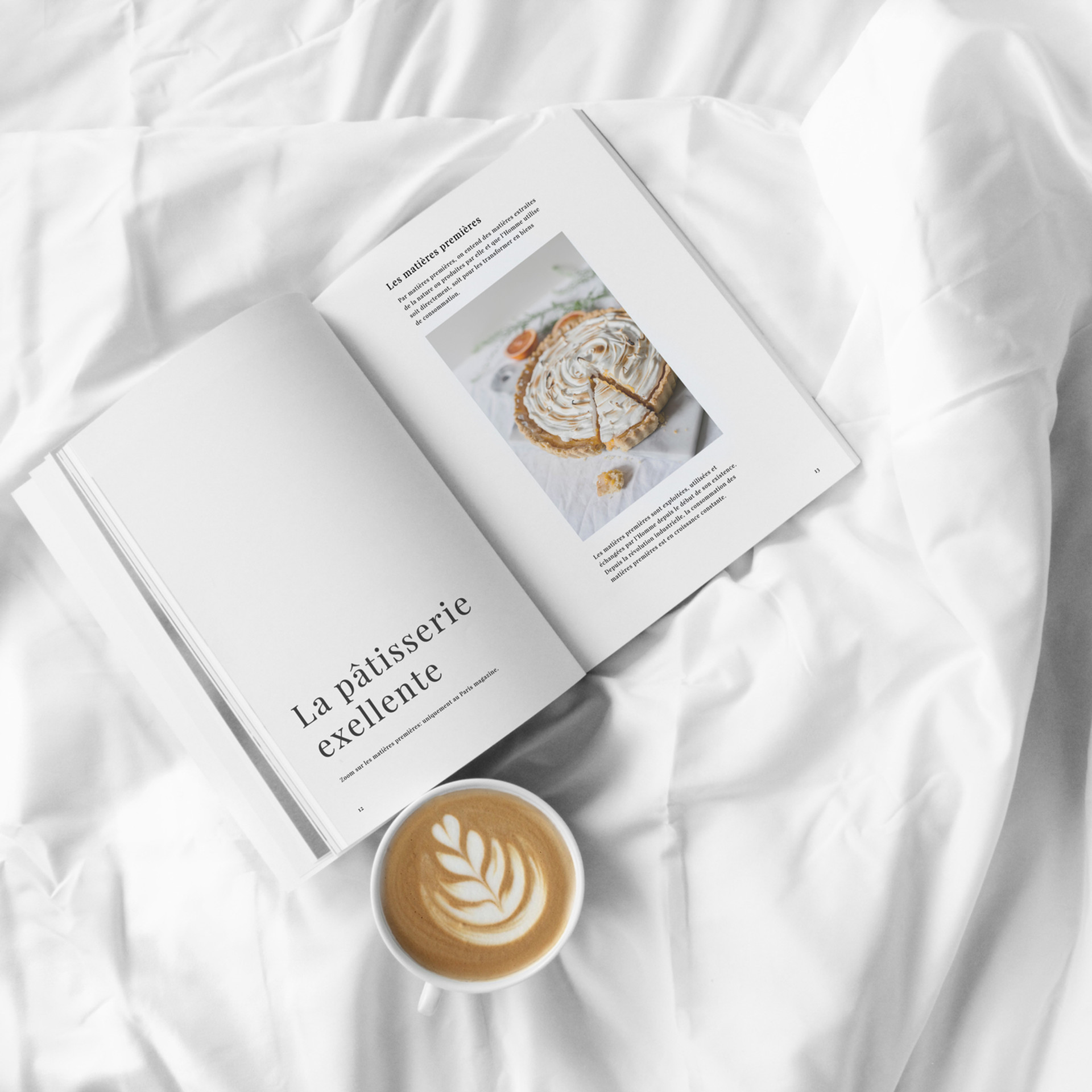 Magazine and Coffee