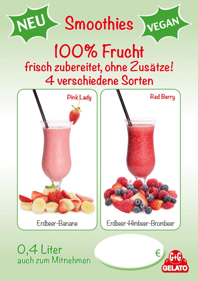 NEU: Smoothies mit 100% Frucht!