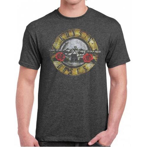 Guns  N' Roses Bullet/Roses Logo T-Shirt