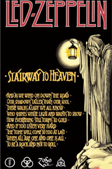 Led Zeppelin: Stairway To Heaven Poster