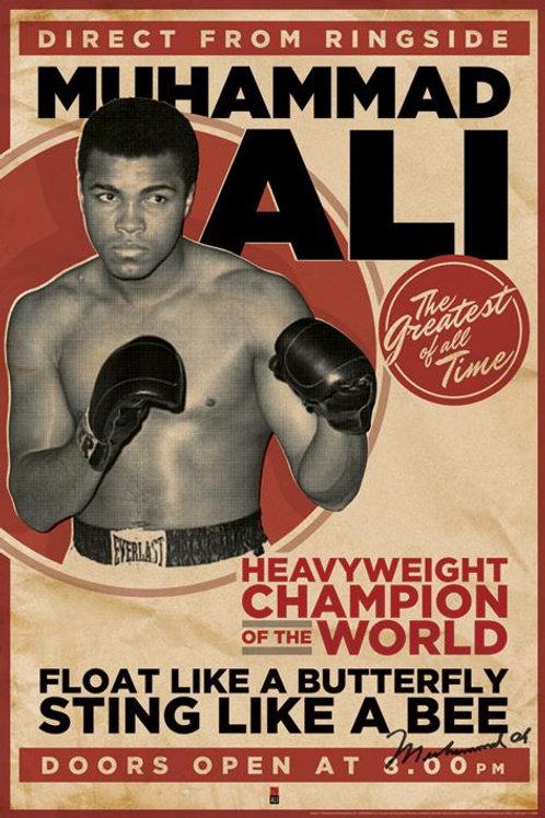 Muhammad Ali The Greatest Of All Time Poster