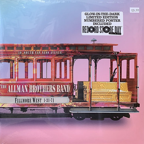 The Allam Brothers Band  Live At Fillmore West 1-31-71 Pink Vinyl Record
