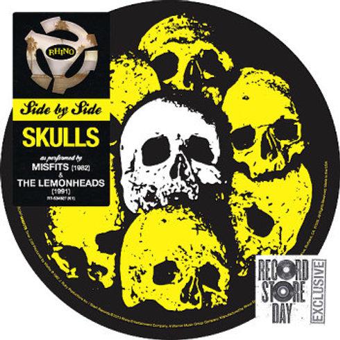 """Misfits/ The Lemonheads: Skulls Picture Disc 7"""" 45RPM"""