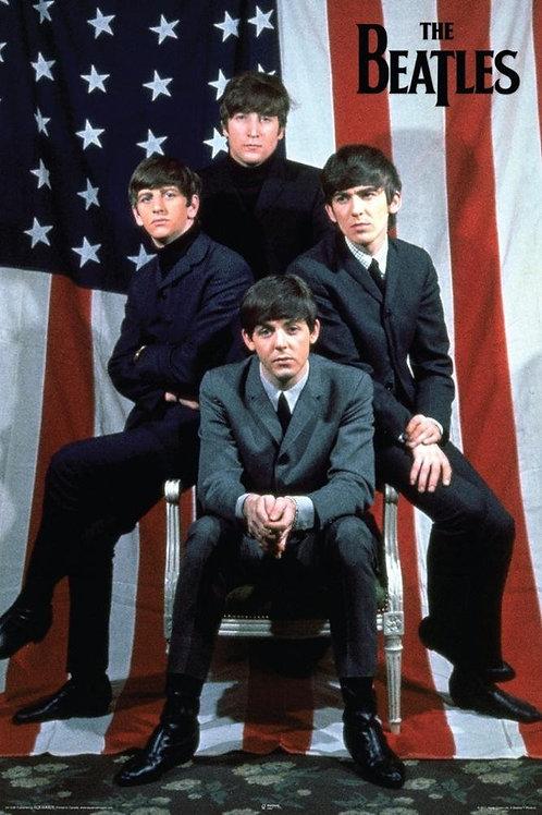 The Beatles USA Flag Poster