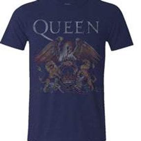 Queen Logo Crest Blue T-Shirt
