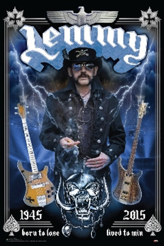 Lemmy (Motorhead) Born To Lose Lived To Win Poster
