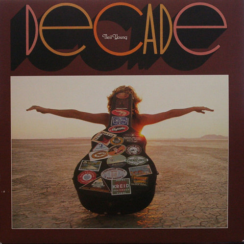 Neil Young Decade Vinyl Record (3 LP) Front Cover