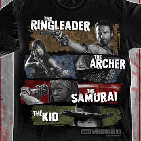 The Walking Dead Ringleader, The Archer, The Samaurai, The Kid T-shirt