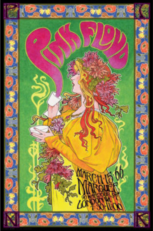 Pink Floyd Psychedelic  Marquee London Concert Poster