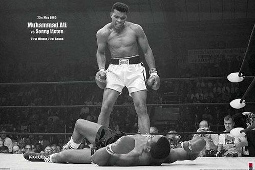 Muhammad Ali  Sonny Liston  Knockout Poster