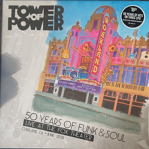 Tower Of Power:: 50 Years Of Funk & Soul Live Vinyl Record