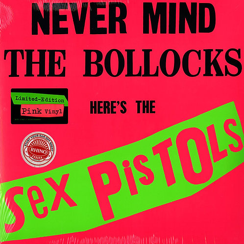 Sex Pistols: Never Mind The Bollocks Vinyl Record (Pink) Front Cover