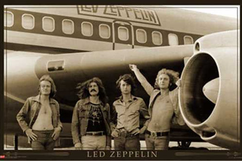 Led Zeppelin:  Airplane Poster