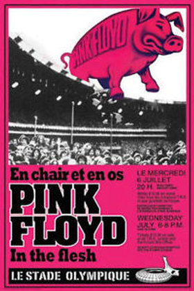 Pink Floyd Montreal Olympic Stadium Concert Poster