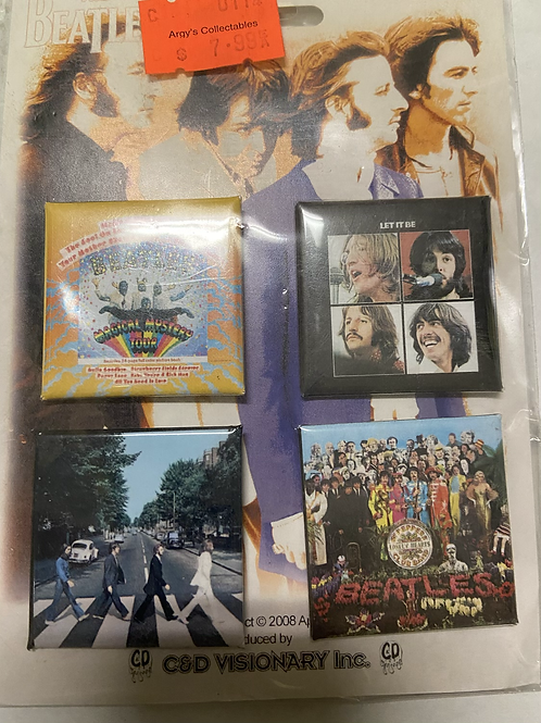 Beatles Pin set ( Abbey road, Let It Be, Sgt. Pepper, Magical Mystery Tour)