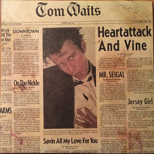 Tom Waits Heart Attack and Vine front cover